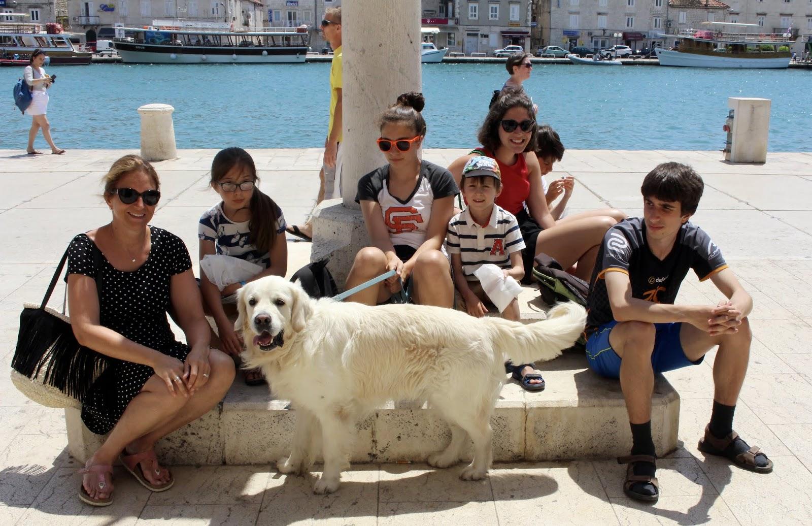 Meine Familie und ich in Trogir