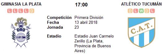 Gimnasia La Plata vs Atlético Tucumán en VIVO