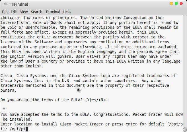 install cisco paket tracer pada linux
