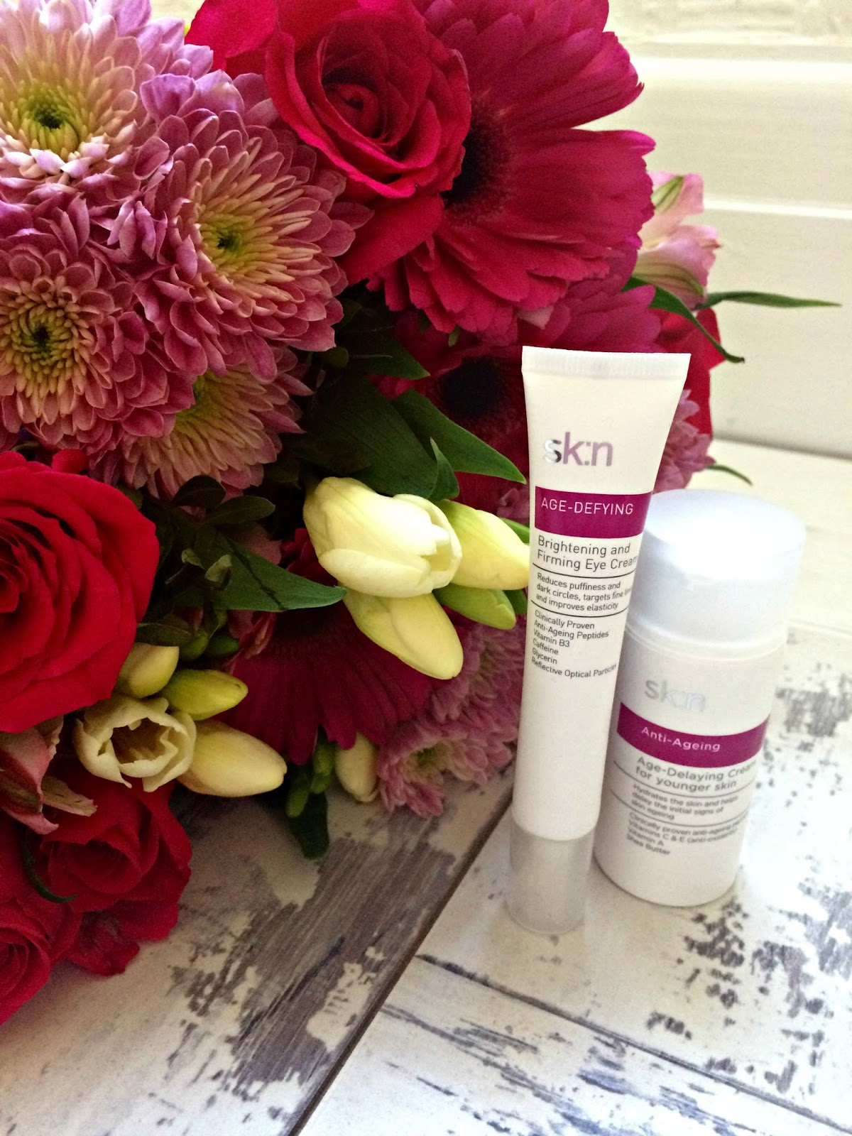 sk:n Anti-Ageing Age-Delaying Cream for younger skin and sk:n age-defying brightening & firming eye cream