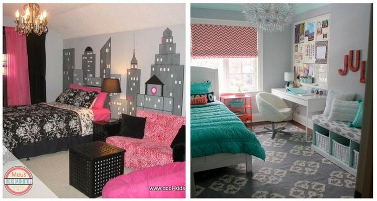 decoração de quartos femininos jovens barato