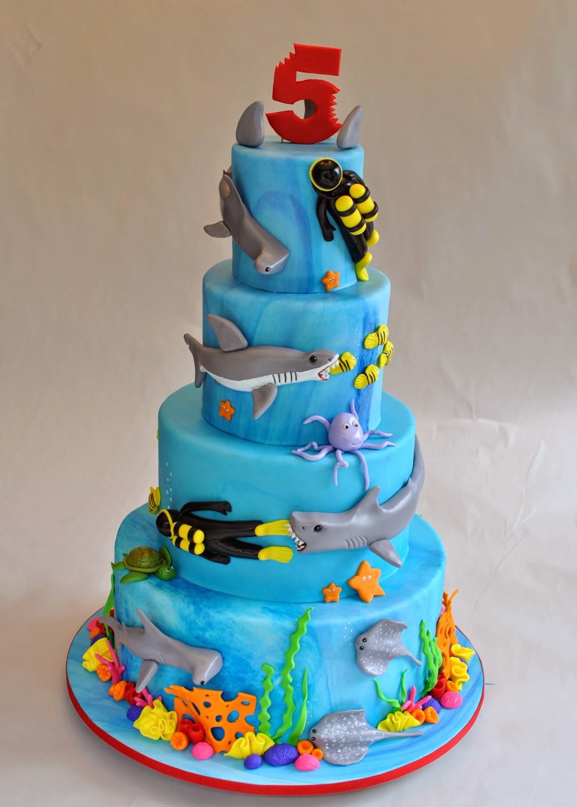 Hope S Sweet Cakes Underwater Shark Cake
