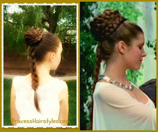 Princess Leia hairstyle tutorial