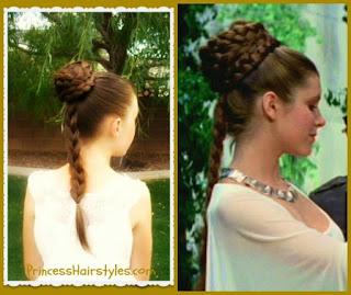 Princess Leia hairstyle tutorial
