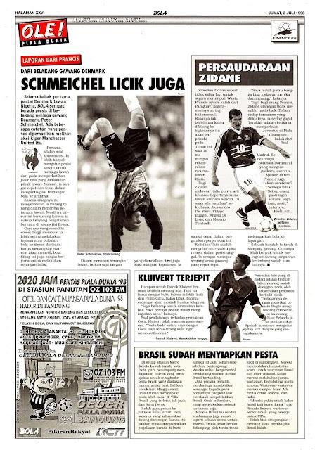 PETER SCHMEICHEL DANEMARK WAORLD CUP 1998
