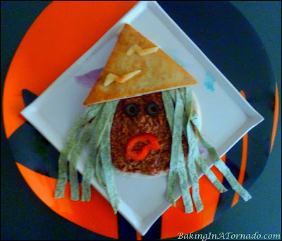 Chili Witches, a fun way to serve chili for Halloween | Recipe created by www.BakingInATornado.com | #recipe #Halloween