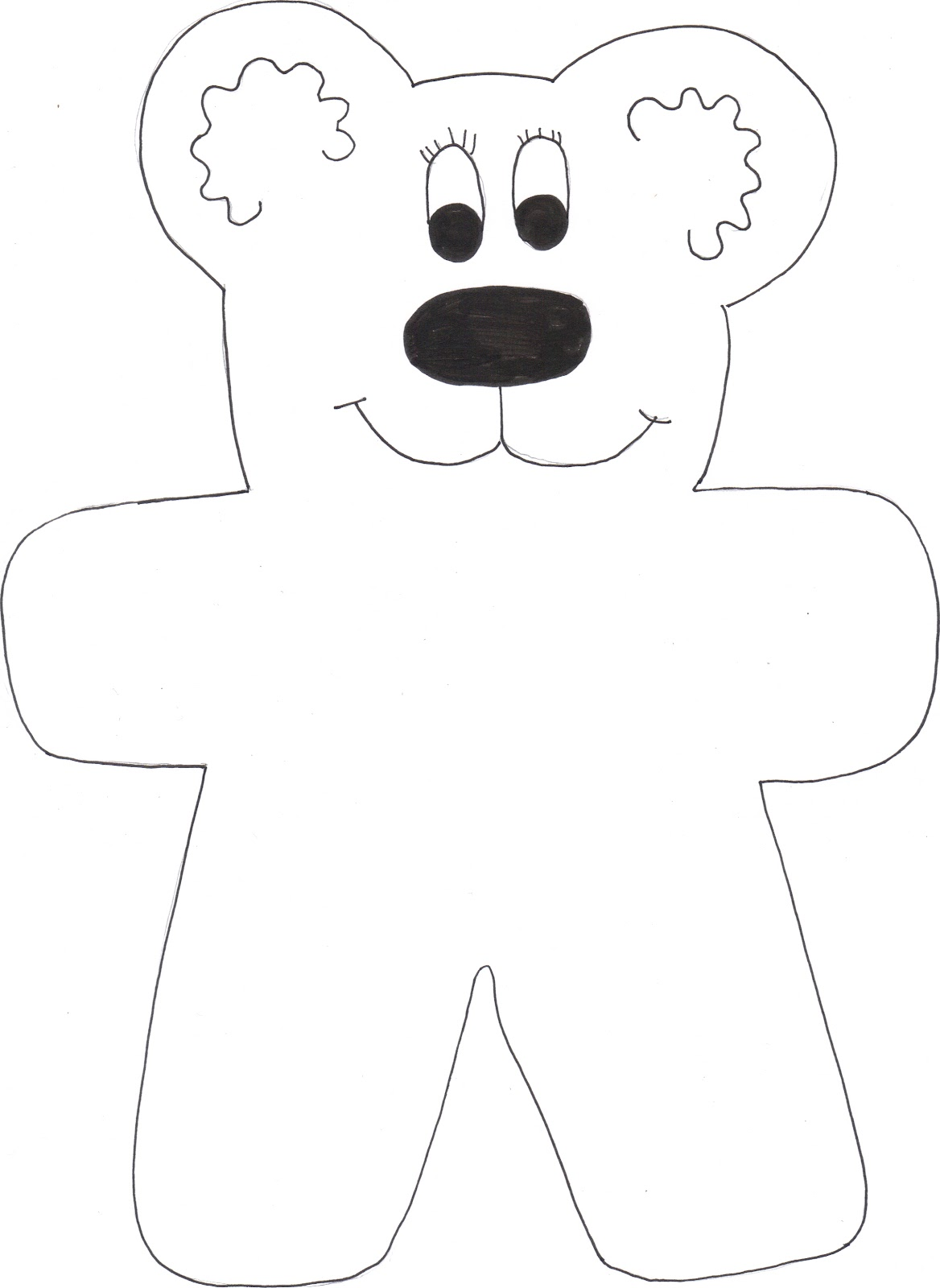 weather worksheet: NEW 688 PRINTABLE WEATHER BEAR TEMPLATE