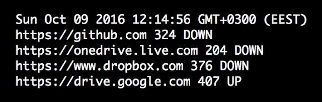 Dropbox, Google Drive, Github