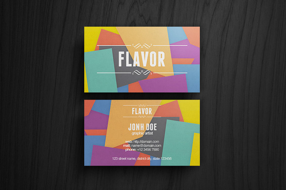Colorful Flavor Business Card