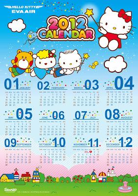 forever calendar template - january 2012 hello kitty forever