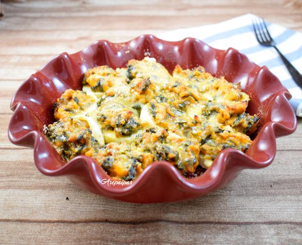 Huevos Rellenos de Pollo al Curry con Espinacas. Vídeo Receta