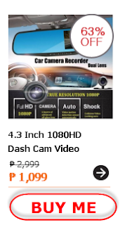 4.3 Inch 1080HD Dash Cam Video Recorder Dual Lens