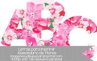 letras del abecedario con flores para imprimir
