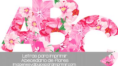 Letras con flores para imprimir