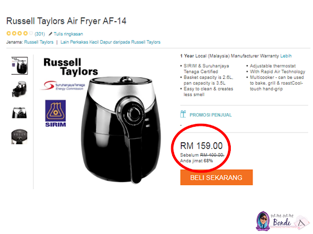 LAZADA ONLINE REVOLUTION BLOGGER CONTEST,Russell Taylors Air Fryer AF-14,