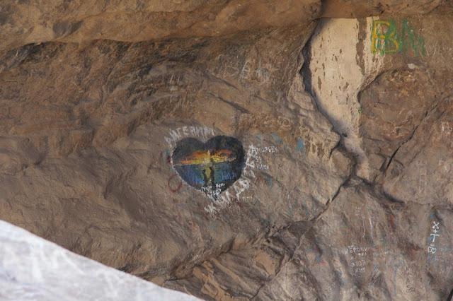 Kirghizistan, Och, graffiti, mont Suleiman-Too, © L. Gigout, 2012