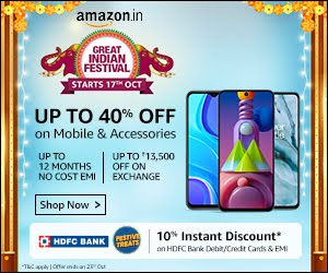 UP TO 40% OFF ON MOBILE
