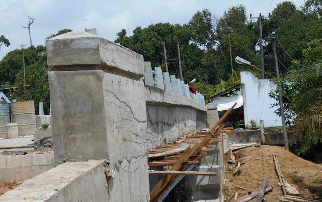 Terancam Tak Selesai, Jembatan di Kemingking Dibangun Asal Jadi