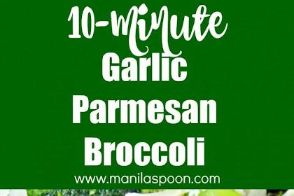 10-Minute Garlic Parmesan Broccoli