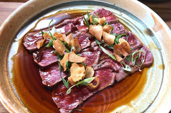 Zushi, Barangaroo: Tuna tataki - seared tuna, tamari ponzu, leek, shallots