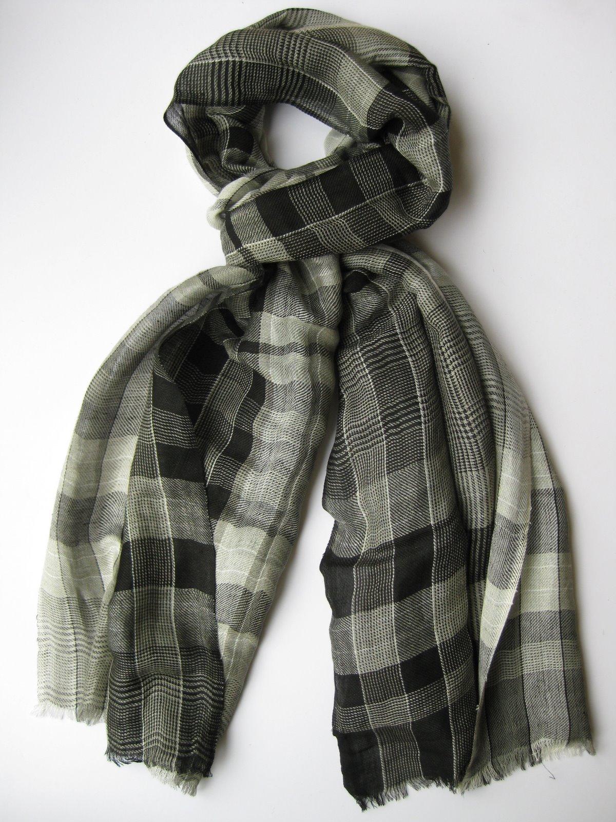 Vintage Mens Paisley Opera Neck Scarf Wool Silk By