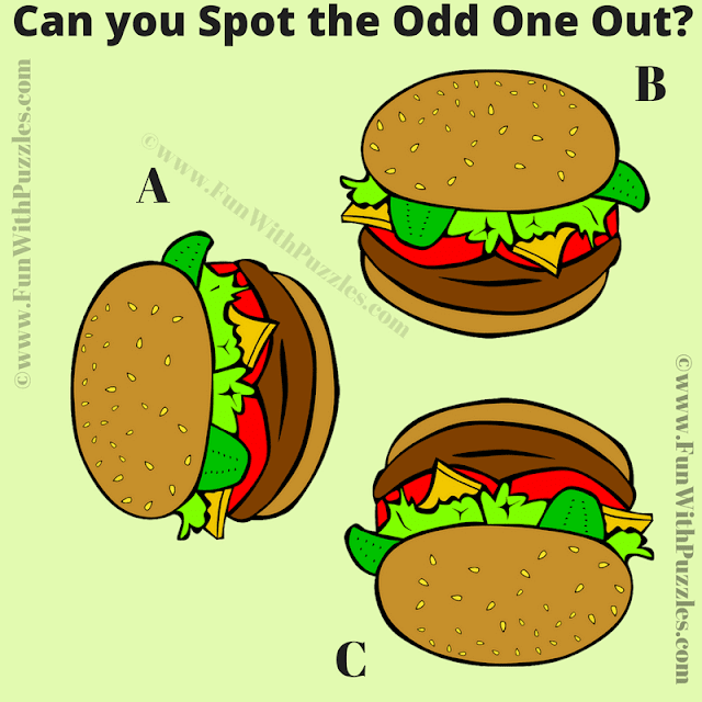 In this Brain Testing Picture Puzzle, your challenge is to find the Odd One Out picture