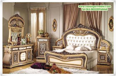 Set Tempat Tidur Mewah Victoria, Kamar Set Jati Klasik