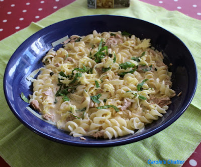Carole's Chatter: Tuesday re-heat for you – Pasta with tuna, capers & cream