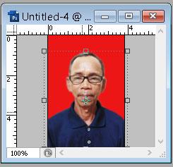 edit foto handphone menjadi pas foto