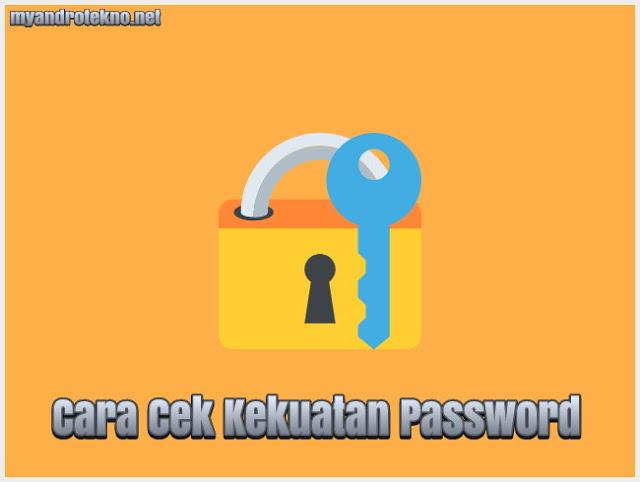 Cara Cek dan Mengukur serta Mengetahui Kekuatan Password