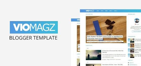 VioMagz Responsive Premium Template Blogger
