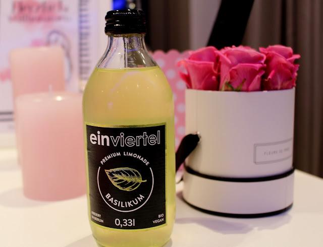 einviertel Limonade mit Basilikum