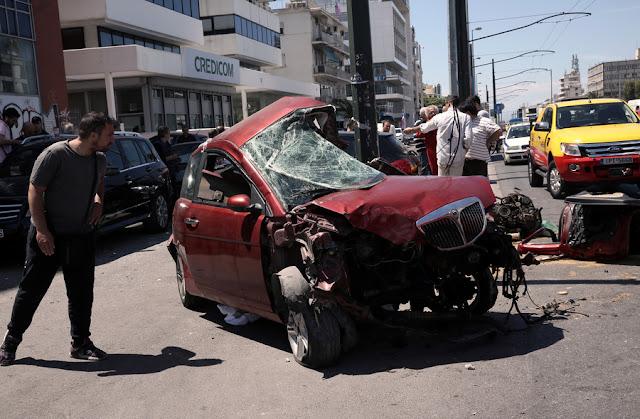 Τροχαίο με επτά τραυματίες στην Αθηνών-Κορίνθου