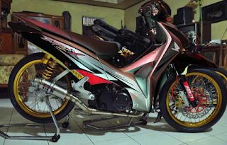 """Modifikasi Velg Jari-Jari 17 inci """" Honda Supra X 125"""""""
