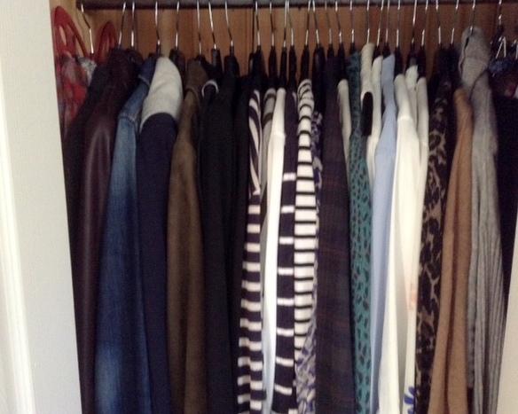 My tiny clothes closet.