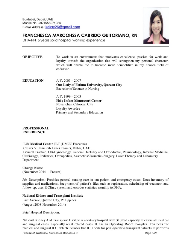 Sample Resume for a Job Sample Resumes
