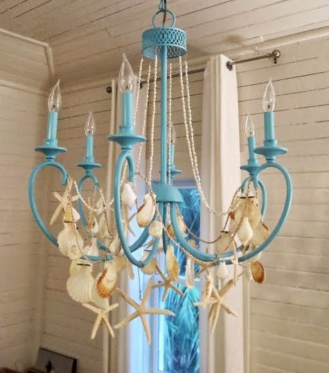 36 Breezy Beach Inspired Diy Home Decorating Ideas: How To Decorate Your Chandelier Beach Style