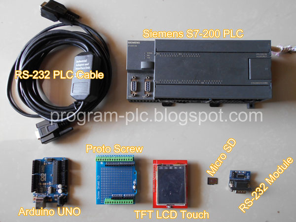 Hardware of PLC - Mini LCD Touch Screen - Arduino
