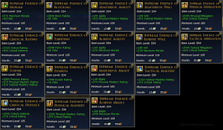 Supreme essenses tier 8 LotrO
