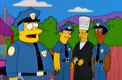 Simpsons Chief Wiggum quotes Lou Frittatas eggs Guess Who's Coming to Criticize Dinner