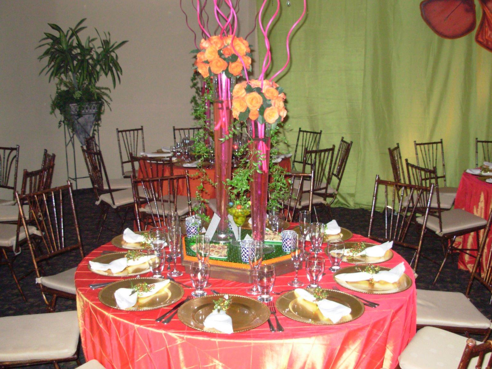 Mauricio events decoracion estilo primaveral con los - Decoracion naranja ...
