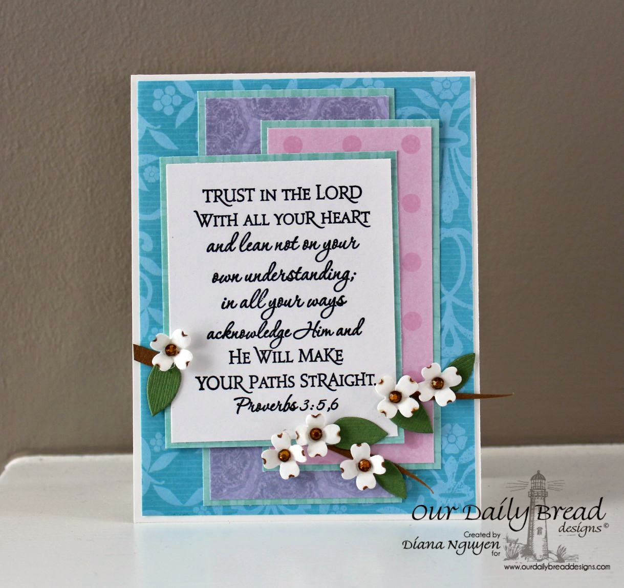 Diana Nguyen, Our Daily Bread Designs, ODBD, Scripture, card