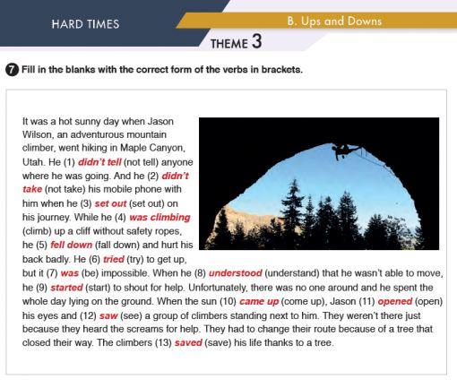 11. Sınıf MEB Yayınları İngilizce Çalışma Kitabı Silver Lining 28. Sayfa Cevapları Hard Times