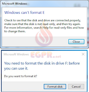 Check to see that the disk and drive are connected properly, make sure that the disk is not read-only, and then try again. For more information, search Help for read-only files and how