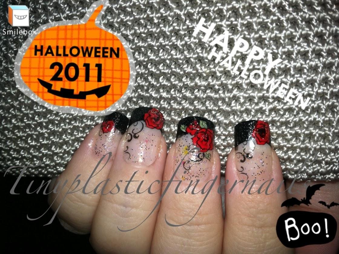 "Tiny plastic fingernails: Kiss Halloween Nails ""Firery"""
