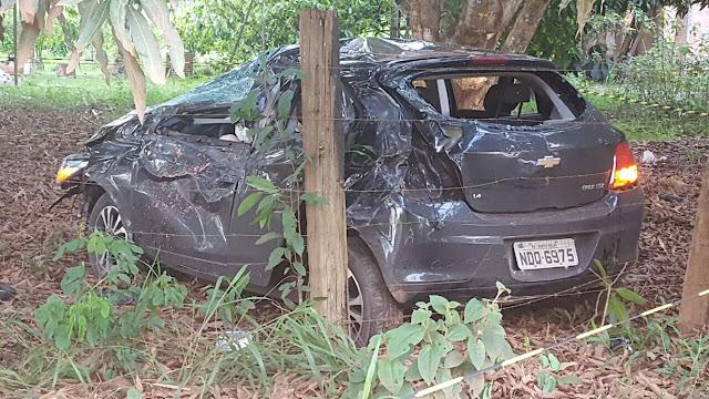Motorista morre ao perder controle do veículo e capotar na estrada da penal