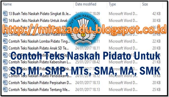 Kumpulan Contoh Naskah Teks Pidato Untuk Sd Mi Smp Mts Sma Ma Smk