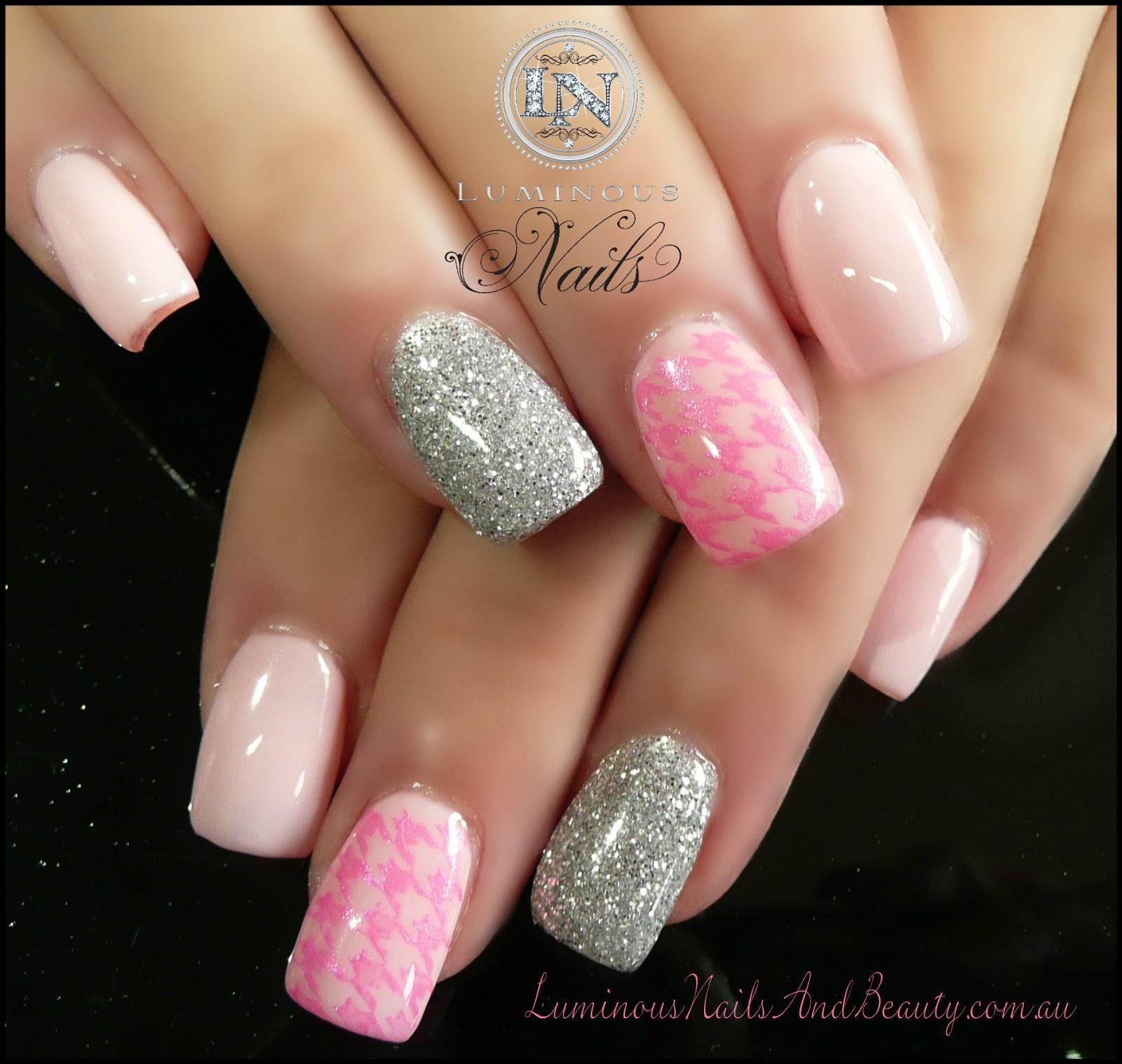 Pink Acrylic Nail Designs: Luminous Nails: February 2013