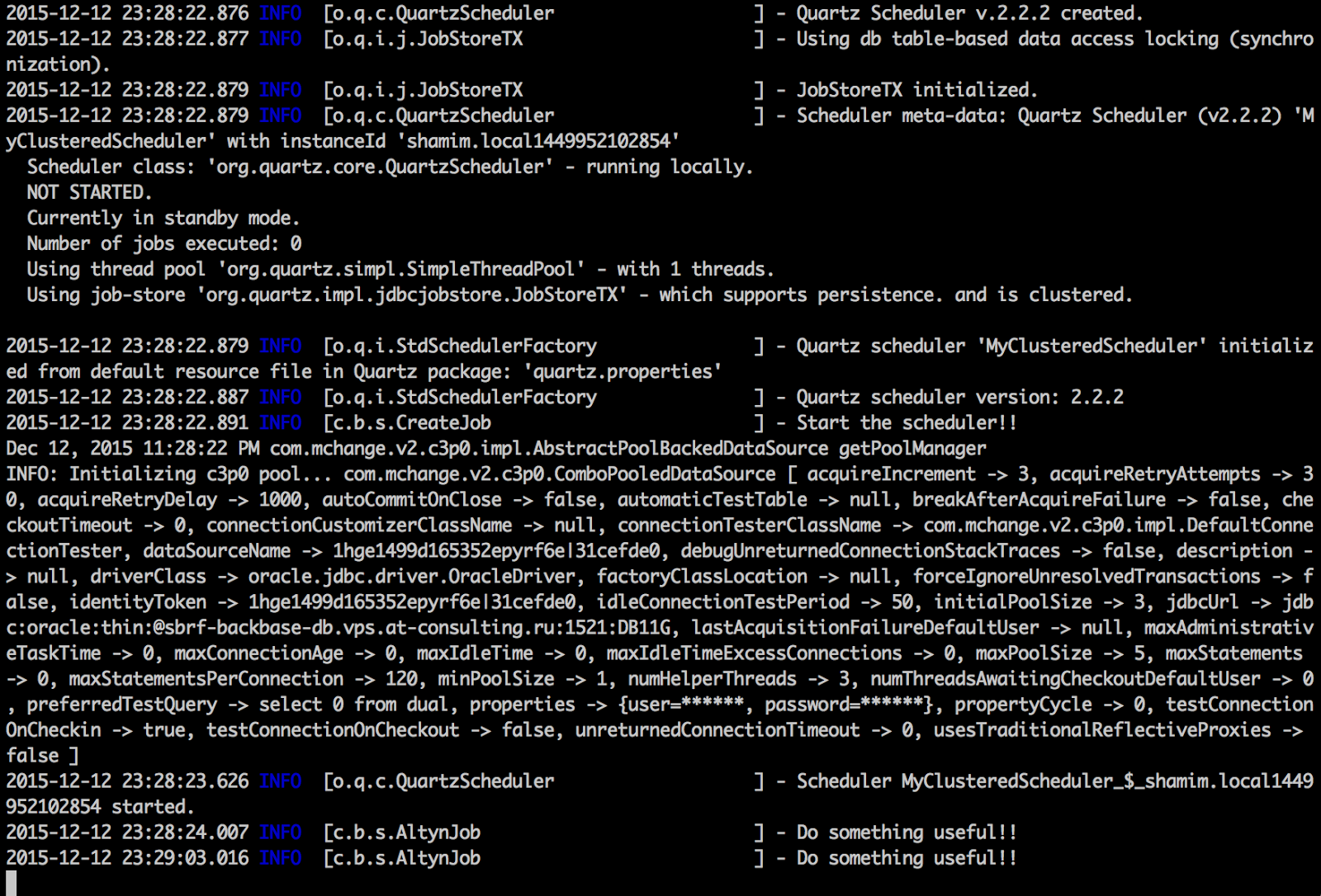 My workspace: Load balancing and fail over with scheduler