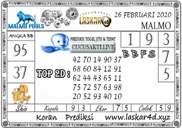 Prediksi Togel MALMO LASKAR4D 26 FEBRUARI 2020